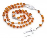 Chaplet with silver and amber